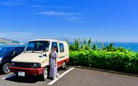 A 20-something girl goes car camping in Miyazaki, Surfers Paradise in Japan